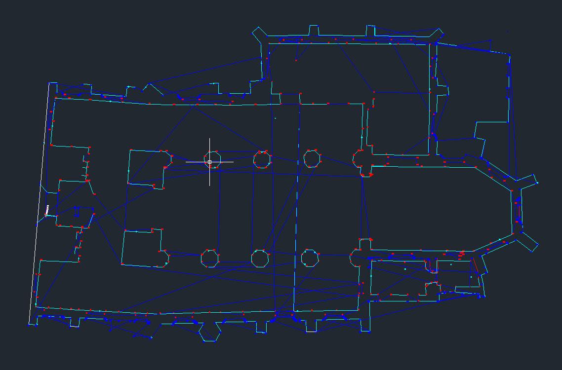 """Plik pomiarowy DXF w postaci """"surowej"""" tuż po zakończeniu prac"""