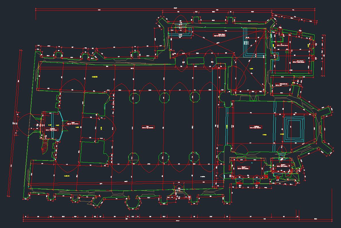 Finalny plik CAD po wykonaniu pomiarów za pomocą Leica 3D Disto i poddaniu go edycji