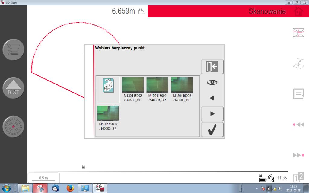 Zdjęcia punktów łącznych ułatwiają ich wybór przy nawiązaniu pomiarów na drugim stanowisku