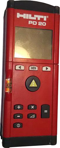 Dalmierz laserowy Hilti PD 20 wykorzystany do inwentaryzacji kościoła w pierwszym podejściu