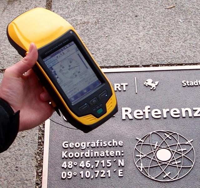 Punkt referencyjny GPS w Stuttgarcie