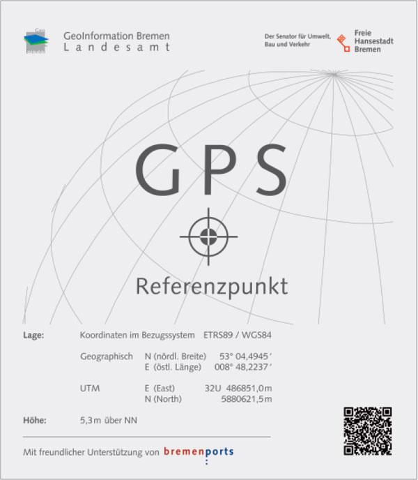 Punkt referencyjny GPS w Bremie