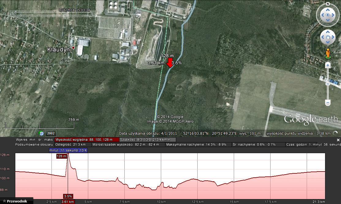 Kontrola dokładności wyznaczania wysokości przez odbiornik GPS