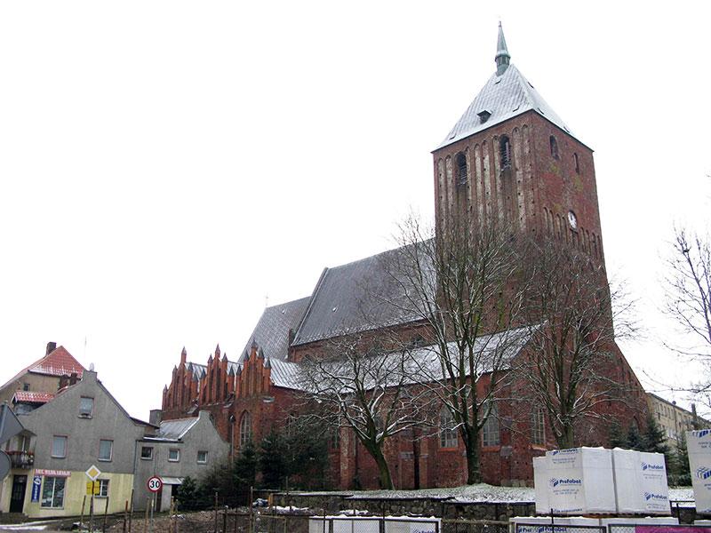 Pomiary kościoła w Sławnie za pomocą Leica 3D Disto