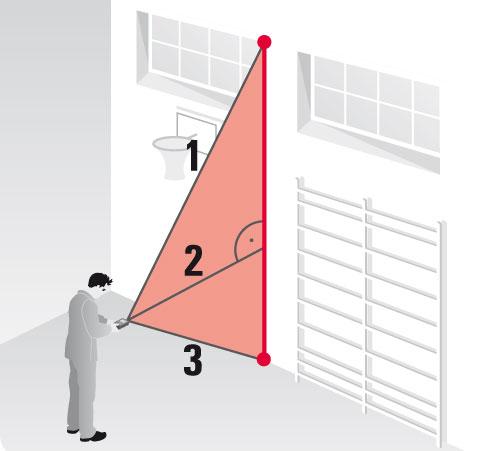 Funkcja prosta pomiaru pośredniego z twierdzenia Pitagorasa