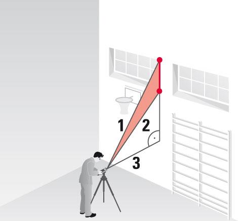 Funkcja złożona pomiaru pośredniego z twierdzenia Pitagorasa