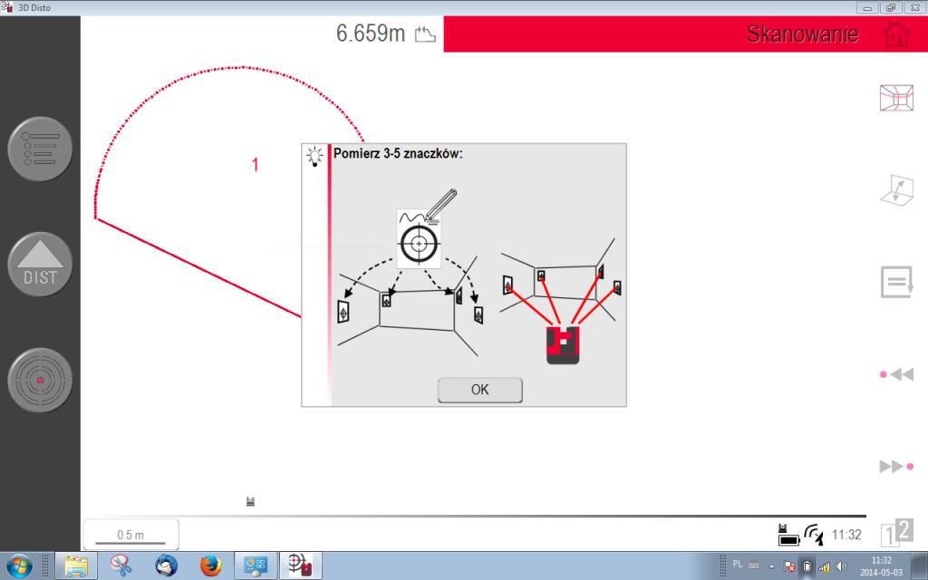Łączenie stanowisk w 3D Disto