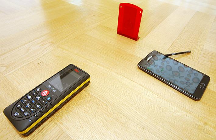 Zdalne tyczenie odległości dalmierzem przez Bluetooth