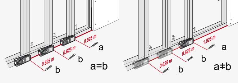 Funkcja tyczenia odcinków o zdefiniowanej w dalmierzu laserowym wartości