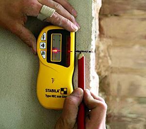 Odbiornik laserowy służy do odnajdywania wiązki niwelatora laserowego