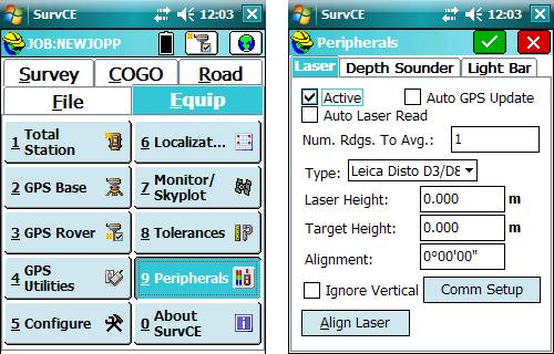 Pomiary RTK z offsetem z wykrozystaniem dalmierza laserowego Bosch GLM 100 C