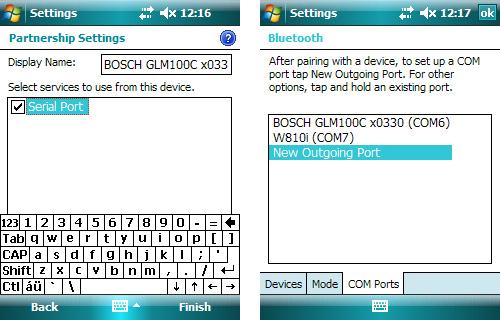 Konfiguracja portu Bluetooth w emulatorze SurvCE