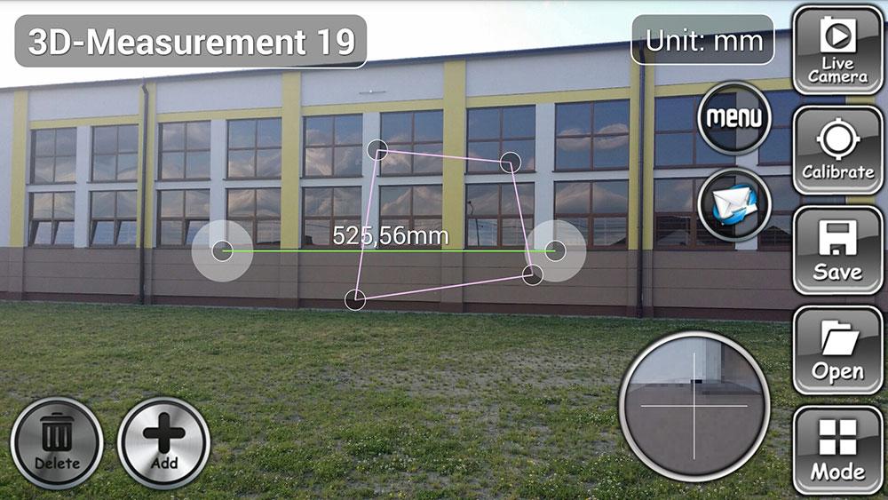 Wymiarowanie elementów elewacji odbywa się na zdjęciu