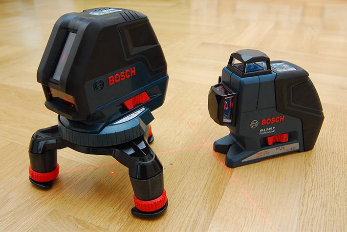 Laser krzyżowy Bosch GLL 3-50 i jego starszy brat-płaszczyznowiec Bosch GLL 3-80