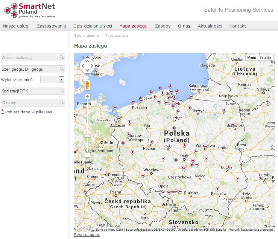 Stacje referencyjne sieci Smart Net Polska