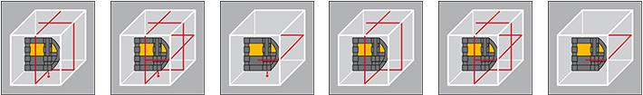 Tryby pracy lasera krzyżowego CST/berger XLP34