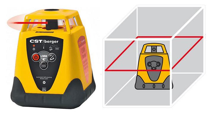 Niwelator laserowy praca w płaszczyźnie poziomej