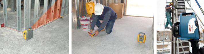 Niwelatory laserowe praca w płaszczyźnie pionowej