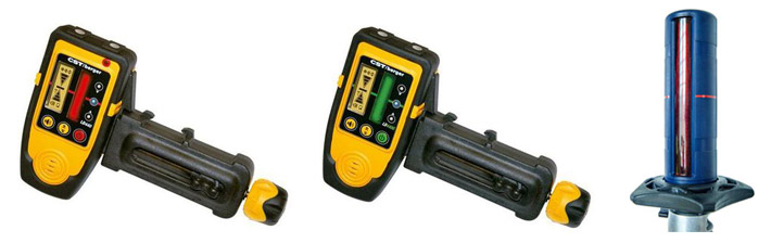Odbiorniki laserowe do niwelatorów obrotowych